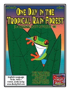 """CCSS Text Based Novel Questions """"One Day in the Tropical R"""