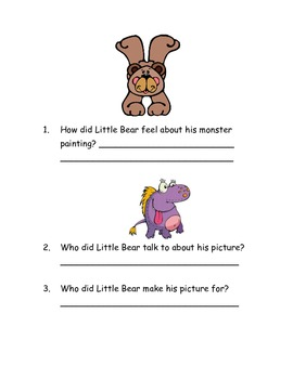 "CCSS Text Based Questions Chapter Book ""A Kiss for Little Bear"""