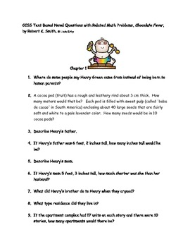 "CCSS Text Based Questions & Related Math ""Chocolate Fever"""