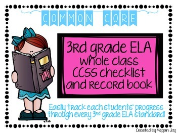 Third Grade Common Core (CCSS) Checklist: ELA