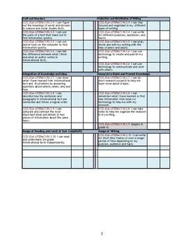 CCSS Third Grade ELA Standards Quick Checklist