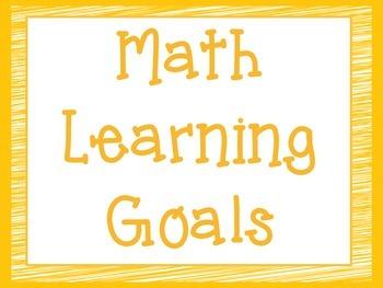 CCSS Third Grade Math Learning Goals Super Hero Theme