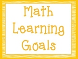CCSS Third Grade Math Learning Goals Super Hero Theme