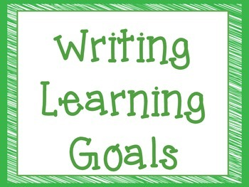 CCSS Third Grade Writing Learning Goals Super Hero Theme