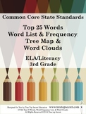 CCSS ELA/Literacy Top 25 Word List and Frequency - 3rd Grade