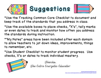 CCSS: Tracking Common Core 2nd Language Arts Checklist