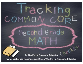 CCSS: Tracking Common Core 2nd Math Checklist