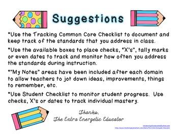 CCSS: Tracking Common Core 4th Language Arts Checklist