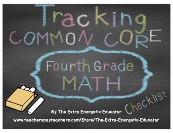 CCSS: Tracking Common Core 4th Math Checklist