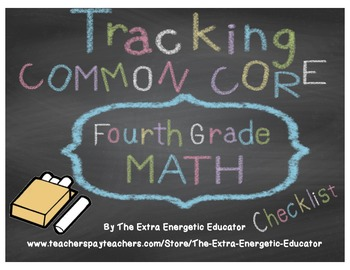 CCSS: Tracking Common Core 4th Math Checklist