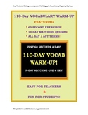 CCSS Vocabulary I: 110 One-Minute Daily Warm-Ups! 10-Day M
