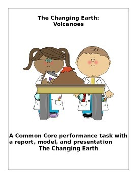 CCSS Volcano Project with Report, Model and Presentation