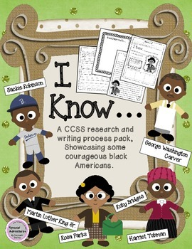CCSS WRITING AND RESEARCH PACK FOR BLACK HISTORY