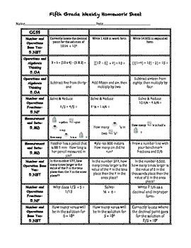 CCSS Weekly Homework # 1