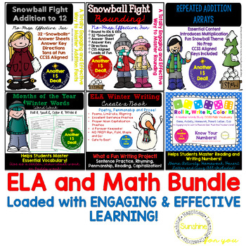 Winter Math & Literacy Packets. NO PREP! 7 Packets of Activities and Printables!