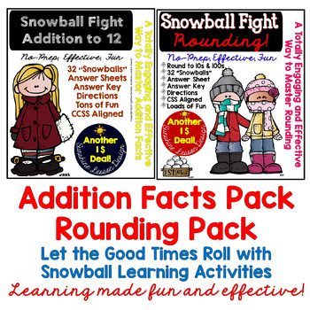 Winter Math & ELA Big Bundle. NO PREP! 6 Packets of Activities and Printables!