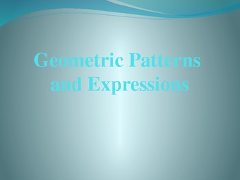 CCSS Writing Expressions to Match Geometric Patterns 6.EE.