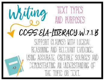 CCSS Writing Standards - 7th Grade