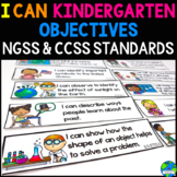 """Objective Bulletin Board CCSS & NGSS Daily Targets """"I can statements"""""""
