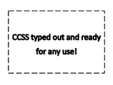 CCSS for Reading typed out and ready to print or adjust.