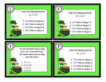 CCSS4.OA.1 - Multiplicative Comparisons - Review Game & Scoot