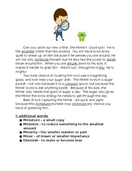CCSS7.4 Ject, Mal, Min, Multi Root Word Project