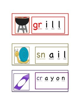 CCSS.ELA-LITERACY.L.K.2.D Spell simple words phonetically using blends