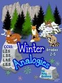 CCSS.ELA-Literacy.L.3.5  Winter Vocabulary Analogies