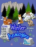 CCSS.ELA-Literacy.L.3.5  Winter Vocabulary Analogies