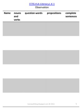 CCSSK.L.1 & CCSSK.L.2 Intervention Activities