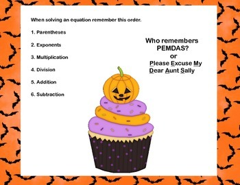 CCSS.MATH.6.EE.A.2.C-40 Math Task Cards- Simplifying Expressions-Halloween