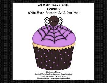 CCSS.MATH.CONTENT.6.RP.A.3.C-Sixth Grade Math Task Cards-P