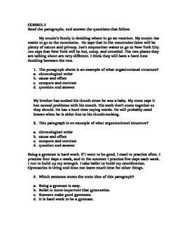 CCSSRI5.5 Organizing Structures Quiz