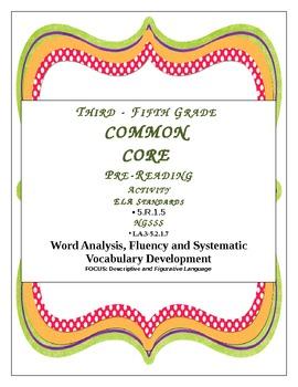 CCSSS/NGSSS Descriptive and Figurative Language Activt-