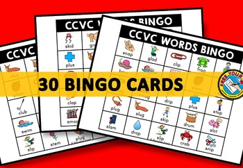 CCVC ACTIVITIES: CCVC WORDS BINGO GAME FOR WHOLE CLASS: CCVC GAMES: WORD WORK