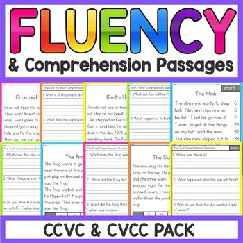 CCVC and CVCC Reading Comprehension Passages