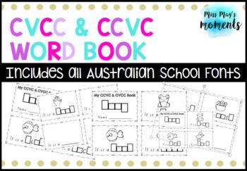 CCVC/CVCC Word Book - All Australian School Fonts Included