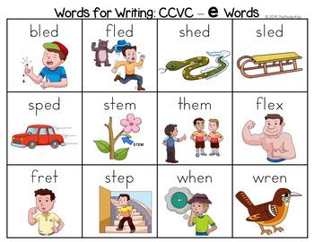 CCVC - E Word List - Writing Center