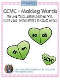 CCVC Hearts - Mix and Match to Create Words