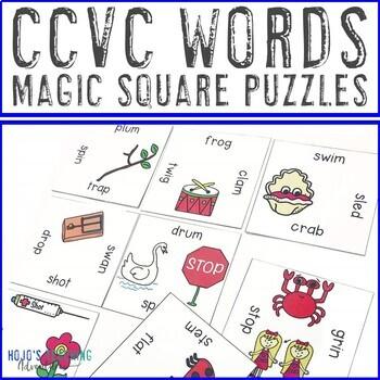 CCVC Words Literacy Center Games, Activities, or Worksheet Alternatives
