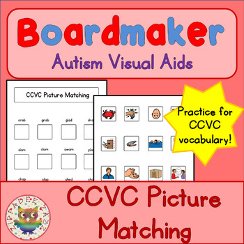 CCVC Matching Game - Boardmaker Visual Aids for Autism