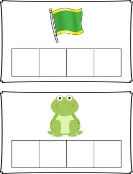 CCVC Word Building Task Cards Activity