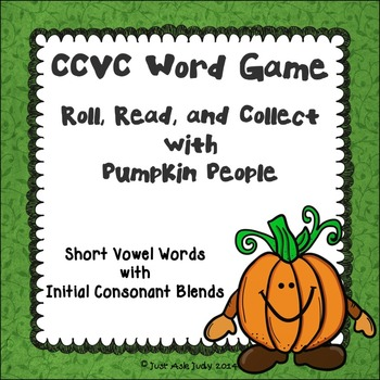 Phonics Game Short Vowel Words with Beginning Blends Pumpkin People