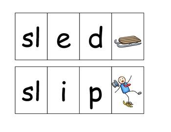 CCVC Word Sliders (Blends)