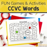 CCVC Words Worksheets and Activities | No Prep Phonics