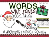 CCVC Words with Santa- Christmas word work
