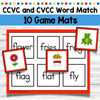 CCVC and CVCC Word Match Mats