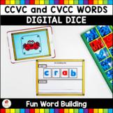 CCVC and CVCC Words Digital Dice