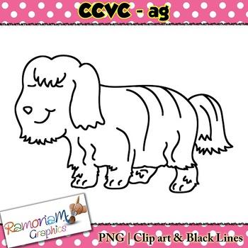 CCVC short vowel ag clip art