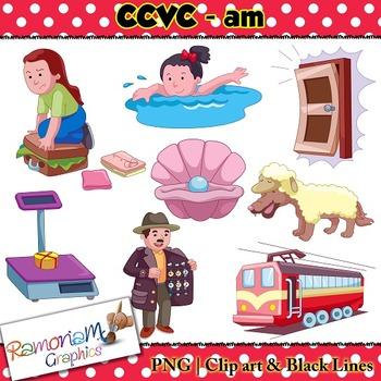 CCVC short vowel am clip art
